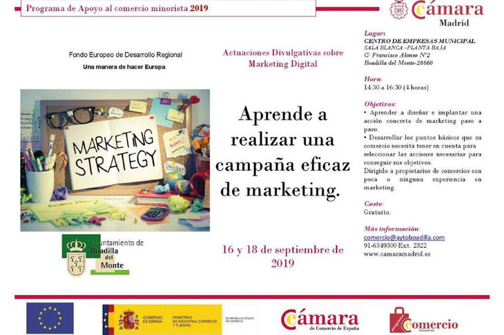 Cursos gratuitos para comercios de marketing y técnicas de venta