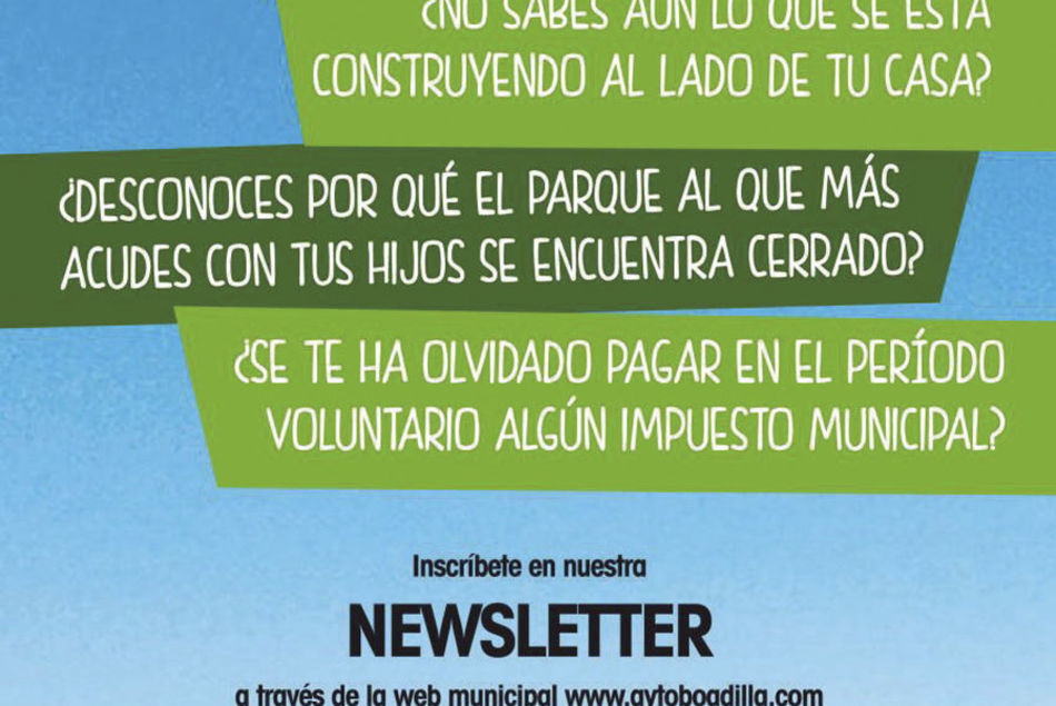 Newsletter' municipal para estar al día