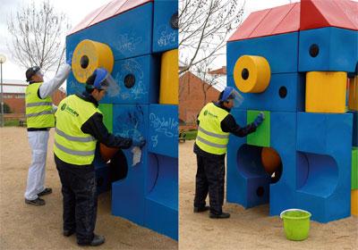 Plan para limpiar boadilla de pintadas - Como limpiar grafitis ...